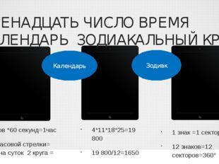 ДВЕНАДЦАТЬ ЧИСЛО ВРЕМЯ КАЛЕНДАРЬ ЗОДИАКАЛЬНЫЙ КРУГ 12 кругов *60 секунд=1час