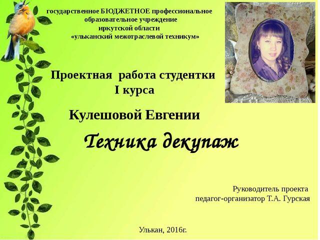государственное БЮДЖЕТНОЕ профессиональное образовательное учреждение иркутс...