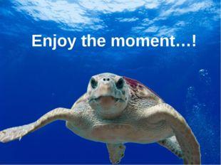 Enjoy the moment…!