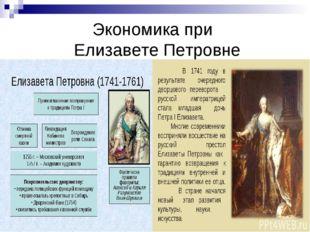 Экономика при Елизавете Петровне
