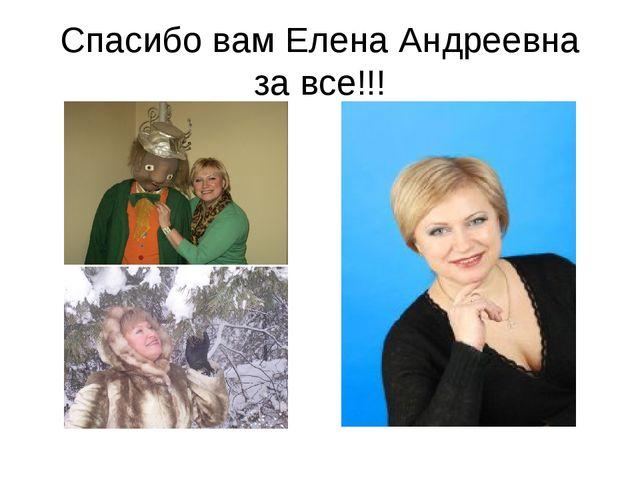 Спасибо вам Елена Андреевна за все!!!
