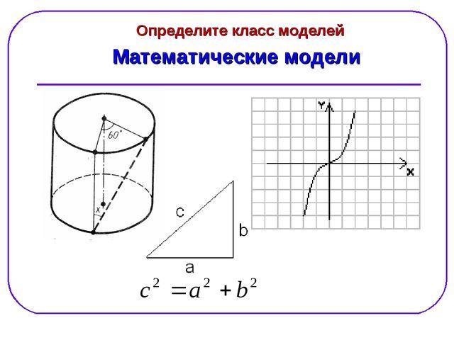 Математические модели Определите класс моделей