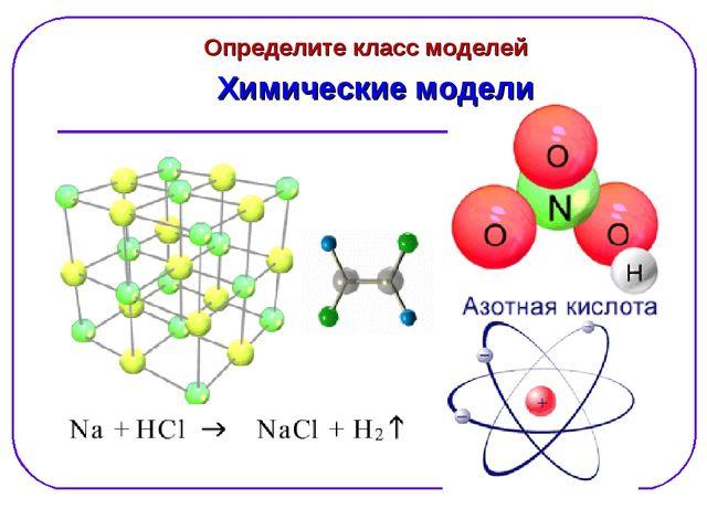 Химические модели Определите класс моделей