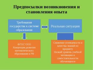 Предпосылки возникновения и становления опыта Требования государства к систем