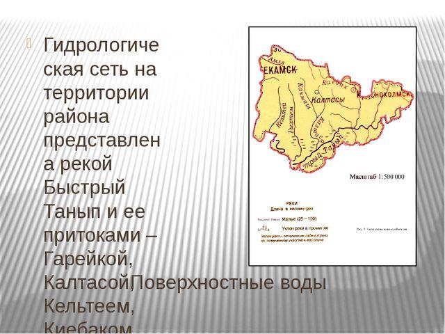 Поверхностные воды Гидрологическая сеть на территории района представлена рек...