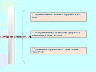 II. Основной этап. Практический. 5. Осуществление поставленных оздоровительны