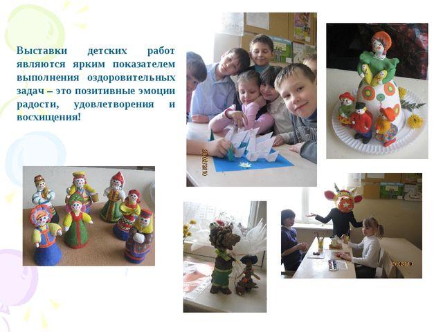 Выставки детских работ являются ярким показателем выполнения оздоровительных...