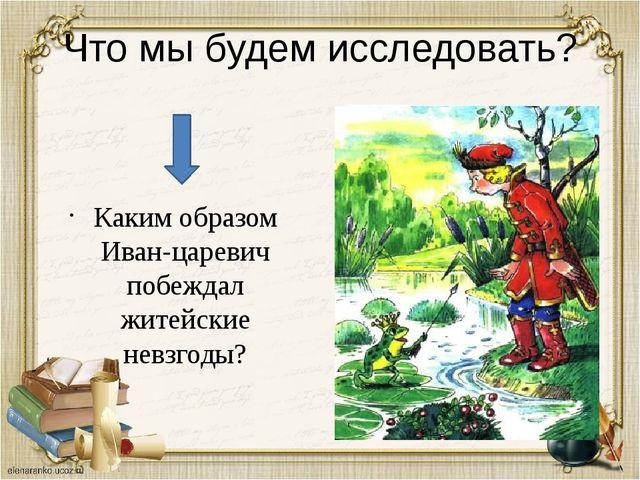 Что мы будем исследовать? Каким образом Иван-царевич побеждал житейские невзг...
