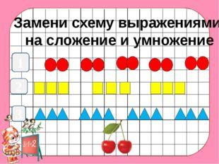 1 Замени схему выражениями на сложение и умножение 2 3