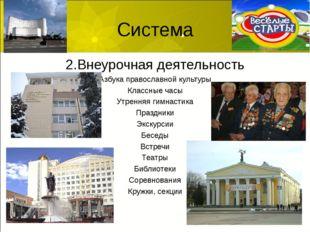 Система 2.Внеурочная деятельность Азбука православной культуры Классные часы
