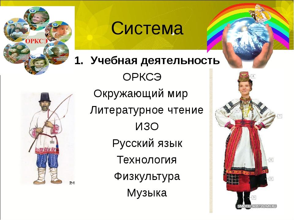 Система Учебная деятельность ОРКСЭ Окружающий мир Литературное чтение ИЗО Рус...
