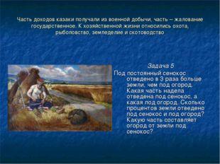 Часть доходов казаки получали из военной добычи, часть – жалование государств