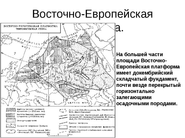 Восточно-Европейская платформа. На большей части площади Восточно-Европейская...