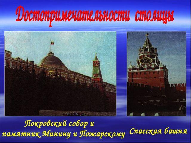 Спасская башня Покровский собор и памятник Минину и Пожарскому