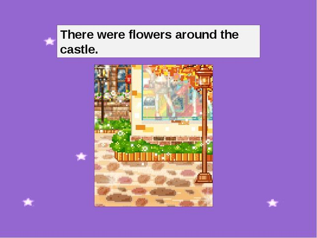 There were flowers around the castle.