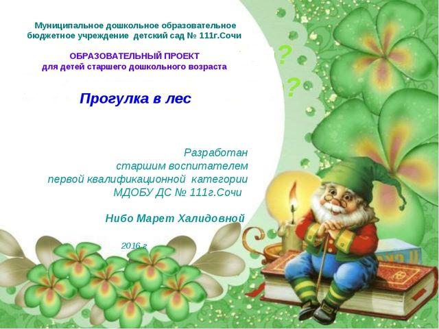 Муниципальное дошкольное образовательное бюджетное учреждение детский сад № 1...