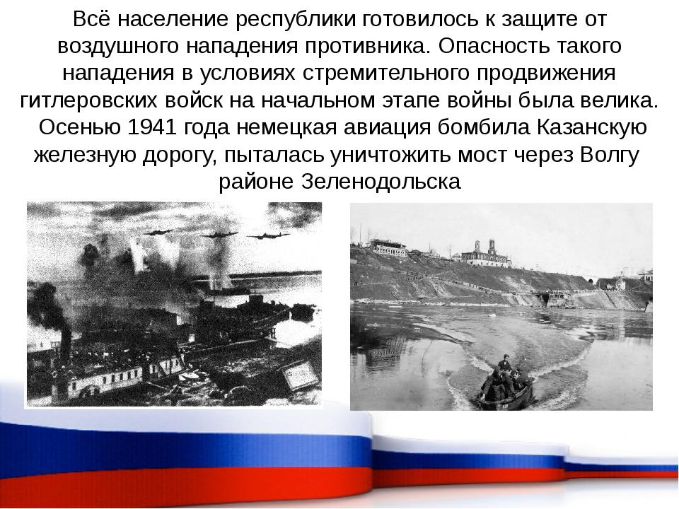 Всё население республики готовилось к защите от воздушного нападения противни...