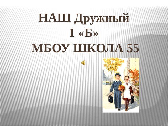 НАШ Дружный 1 «Б» МБОУ ШКОЛА 55