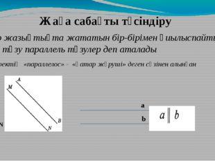 Бір жазықтықта жататын бір-бірімен қиылыспайтын екі түзу параллель түзулер де