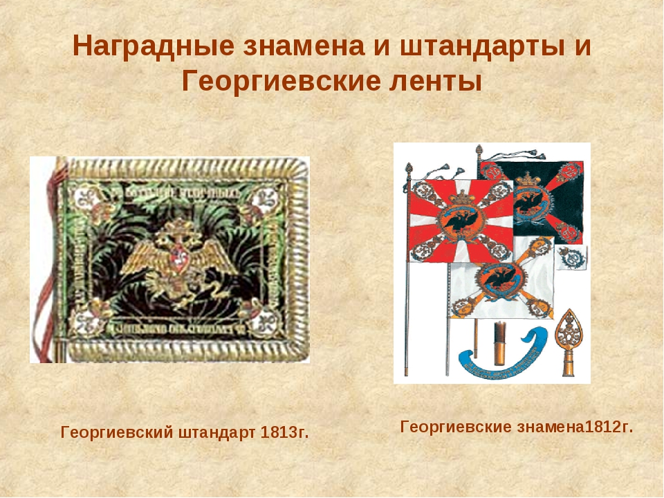 Наградные знамена и штандарты и Георгиевские ленты Георгиевский штандарт 1813...
