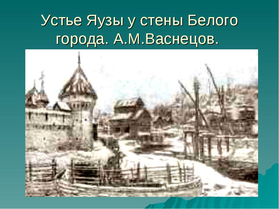 Устье Яузы у стены Белого города. А.М.Васнецов.
