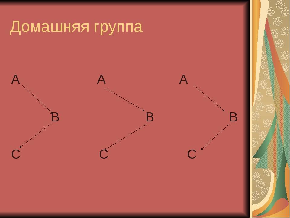 Домашняя группа A A A B B B C C C
