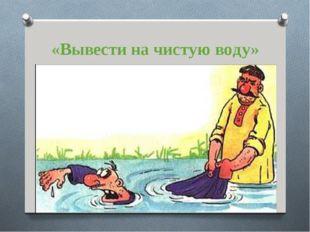 «Вывести на чистую воду»