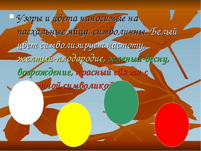 Узоры и цвета наносимые на пасхальные яйца, символичны. Белый цвет символизир...