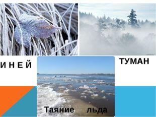 И Н Е Й ТУМАН Таяние льда