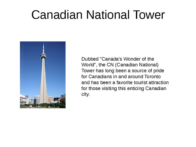 "Canadian National Tower Dubbed ""Canada's Wonder of the World"", the CN (Canadi..."
