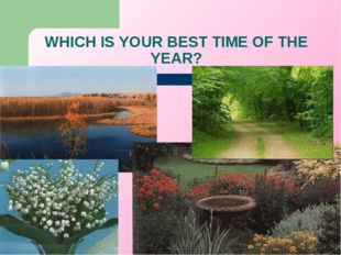 WHICH IS YOUR BEST TIME OF THE YEAR?