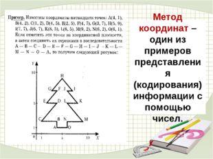 Метод координат – один из примеров представления (кодирования) информации с п