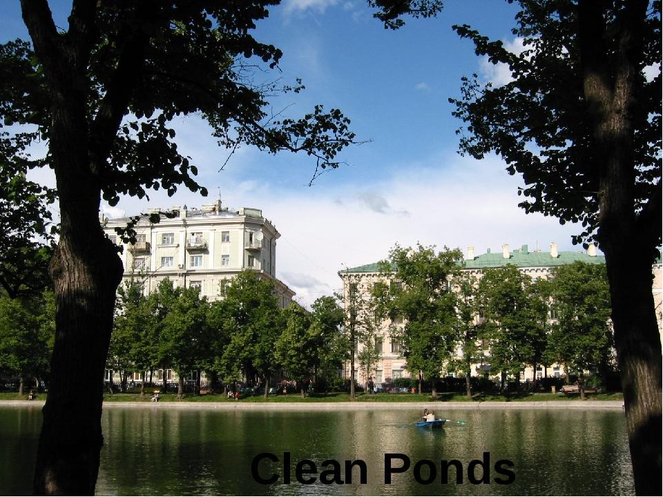 Clean Ponds