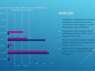 ВЫВОДЫ Произошло сокращение количества четвёртых классов (на один) и количест