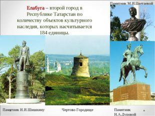 Елабуга – второй город в Республике Татарстан по количеству объектов культурн