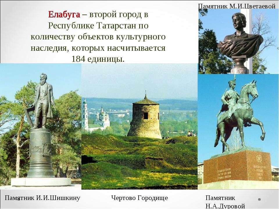 Елабуга – второй город в Республике Татарстан по количеству объектов культурн...