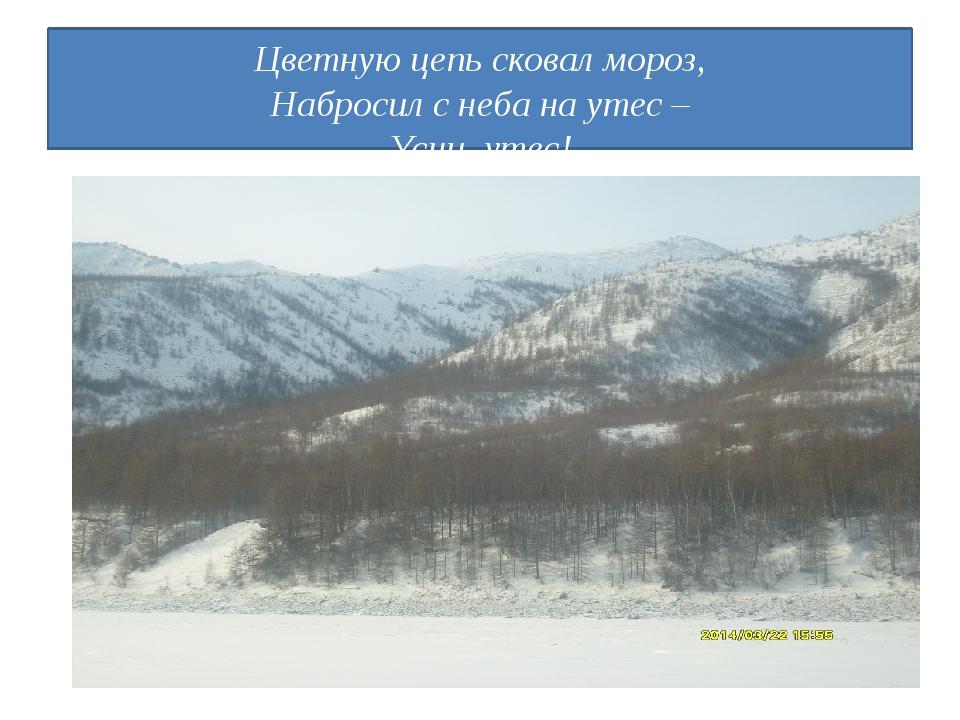Цветную цепь сковал мороз, Набросил с неба на утес – Усни, утес!
