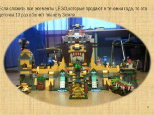 * Если сложить все элементы LEGO,которые продают в течении года, то эта цепоч