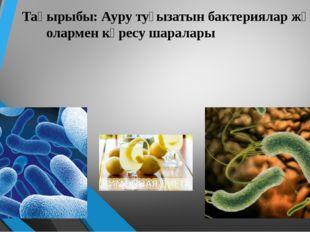 Тақырыбы: Ауру туғызатын бактериялар және олармен күресу шаралары