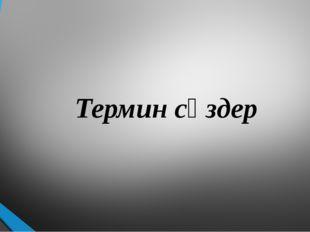 Термин сөздер