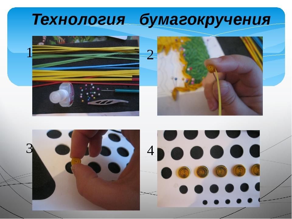 Технология бумагокручения 1 2 3 4