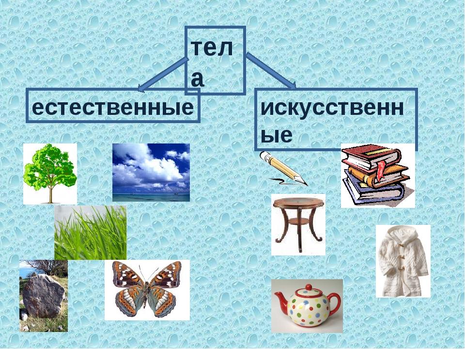 тела естественные искусственные