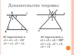 Доказательство теоремы: AC параллельно a AC параллельно a