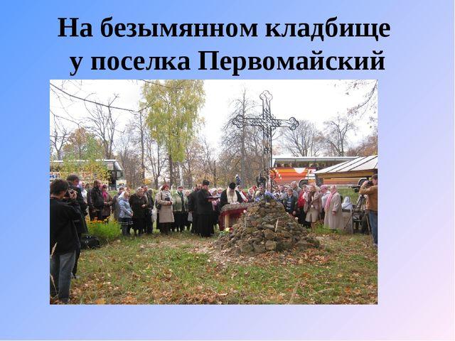 На безымянном кладбище у поселка Первомайский