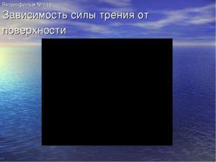 Видеофильм №1.10 Зависимость силы трения от поверхности