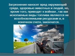 Загрязнения наносят вред окружающей среде, здоровью животных и людей, но, кро