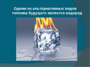 Одним из альтернативных видов топлива будущего является водород