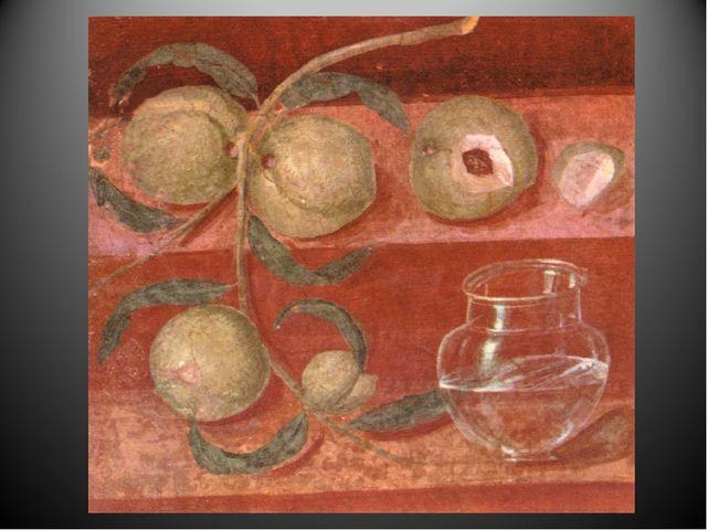 Интерес к миру вещей в Античности Фрески –фрагменты стен вилл в Риме и Помпея...