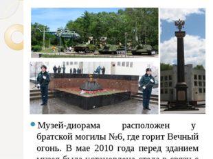 Музей-диорама расположен у братской могилы №6, где горит Вечный огонь. В мае
