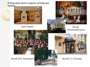 Дом Сварога Музей театральной куклы Музей М.Е. Пятницкого Музей С.А. Есенина